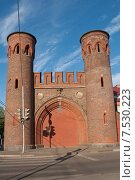 Купить «Закхаймские ворота. Калининград-Кёнигсберг», эксклюзивное фото № 7530223, снято 7 июня 2015 г. (c) Svet / Фотобанк Лори