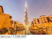 Купить «Dubai - JANUARY 9, 2015: Burj Khalifa building on January 9 in U», фото № 7536547, снято 9 января 2015 г. (c) Elnur / Фотобанк Лори