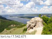 Гора Стрельная. Жигулевский заповедник. Вид на горы и Волгу (2015 год). Редакционное фото, фотограф Дудакова / Фотобанк Лори