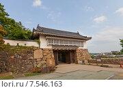 Купить «Ворота Акадзуномон замка Окаяма (построен в 1597, реконструирован в 1966 г.). Национальный исторический объект Японии», фото № 7546163, снято 20 мая 2015 г. (c) Иван Марчук / Фотобанк Лори