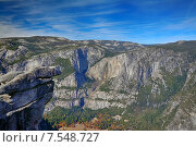 Вид с Glacier Point, Парк Йосемити, Калифорния. Стоковое фото, фотограф Андрей Кочкин / Фотобанк Лори