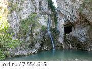 Голубой водопад. Стоковое фото, фотограф Виктор Мандриков / Фотобанк Лори