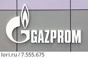 Купить «Logo of OAO Gazprom», фото № 7555675, снято 11 апреля 2005 г. (c) Caro Photoagency / Фотобанк Лори