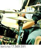Купить «Музыкант играет на ударных инструментах», фото № 7569591, снято 18 декабря 2009 г. (c) Iordache Magdalena / Фотобанк Лори