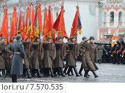 Купить «Парад 7 ноября на Красной площади. Москва», фото № 7570535, снято 7 ноября 2013 г. (c) Free Wind / Фотобанк Лори