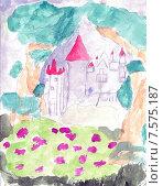 Замок. Стоковая иллюстрация, иллюстратор Сергей Немшилов / Фотобанк Лори