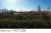 Купить «Заброшенное кладбище», видеоролик № 7577235, снято 11 апреля 2015 г. (c) Потийко Сергей / Фотобанк Лори
