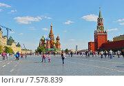 Красная площадь, лето (2015 год). Редакционное фото, фотограф Валерия Попова / Фотобанк Лори