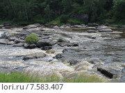 Бурлящие воды реки Исеть на пороге Ревун (2015 год). Стоковое фото, фотограф Андрей / Фотобанк Лори