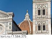 Купить «Флоренция, собор Санта Мария дель Фьоре и колокольня Dzhetto. Фрагмент», фото № 7584375, снято 17 мая 2015 г. (c) Vladimirs Koskins / Фотобанк Лори