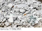 Белый строительный мусор. Стоковое фото, фотограф Александр Чернецов / Фотобанк Лори