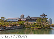 Купить «Замок Имабари (построен в 1604, реконструирован в 1980 г.) в г. Имабари, о. Сикоку, Япония», фото № 7595479, снято 21 мая 2015 г. (c) Иван Марчук / Фотобанк Лори