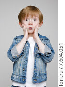 Купить «Удивленный мальчик», фото № 7604051, снято 27 апреля 2015 г. (c) Дмитрий Булин / Фотобанк Лори