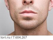 Купить «Нижняя часть мужского лица», фото № 7604267, снято 9 июня 2015 г. (c) Дмитрий Булин / Фотобанк Лори