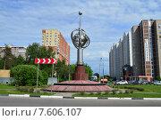 Купить «Монумент «Первый искусственный спутник Земли». Московская область, город Королёв, микрорайон Костино», эксклюзивное фото № 7606107, снято 2 июня 2015 г. (c) lana1501 / Фотобанк Лори