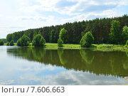 """Купить «Парк """"Дубрава"""". Запруда на реке Петрице. Климовск. Подольский район. Московская область», эксклюзивное фото № 7606663, снято 17 июня 2015 г. (c) lana1501 / Фотобанк Лори"""
