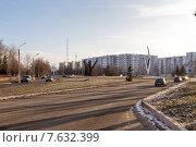 Купить «Улица Мурадьяна. Нижнекамск», эксклюзивное фото № 7632399, снято 25 ноября 2014 г. (c) Сергей Лаврентьев / Фотобанк Лори