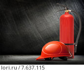 New blank red fire extinguisher. Стоковое фото, фотограф Ярочкин Сергей / Фотобанк Лори