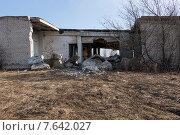 Фрагмент разрушенного кирпичного здания. Стоковое фото, фотограф Николай Грушин / Фотобанк Лори