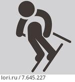 Иконки зимних видов спорта. Горные лыжи. Стоковая иллюстрация, иллюстратор Рада Коваленко / Фотобанк Лори