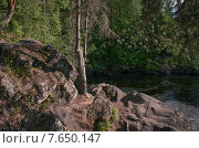 Карельские скалы. Стоковое фото, фотограф Андрей Кудряшов. / Фотобанк Лори