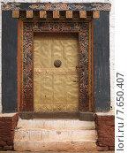 Entrance gate of the Punakha Monastery, Punakha, Bhutan (2010 год). Стоковое фото, фотограф Keith Levit / Ingram Publishing / Фотобанк Лори