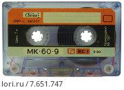 Купить «Старая советская магнитофонная аудиокассета МК-60-9», фото № 7651747, снято 7 июля 2015 г. (c) Ельцов Владимир / Фотобанк Лори