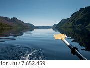 Купить «Kayaking in Trout River Pond, Gros Morne National Park, Newfoundland and Labrador, Canada», фото № 7652459, снято 26 августа 2013 г. (c) Ingram Publishing / Фотобанк Лори