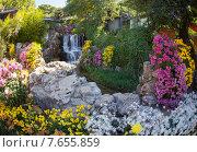 Купить «Красивый китайский сад», фото № 7655859, снято 1 ноября 2014 г. (c) Василий Кочетков / Фотобанк Лори