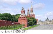 Купить «Москва. Городской пейзаж. Таймлапс», видеоролик № 7656391, снято 9 июля 2015 г. (c) Parmenov Pavel / Фотобанк Лори