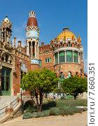 Купить «Hospital de Sant Pau in Barcelona», фото № 7660351, снято 13 сентября 2014 г. (c) Яков Филимонов / Фотобанк Лори