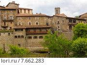 Купить «View of old catalan village. Rupit i Pruit», фото № 7662283, снято 20 июля 2019 г. (c) Яков Филимонов / Фотобанк Лори