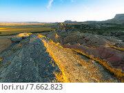 bardenas reales natural park in summer morning. Стоковое фото, фотограф Яков Филимонов / Фотобанк Лори