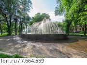 Купить «Фонтан в парке Металлургов, Магнитогорск», фото № 7664559, снято 9 июля 2015 г. (c) Василий Уринцев / Фотобанк Лори