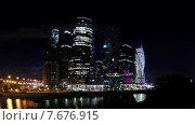 Москва сити, ночной таймлапс (2015 год). Редакционное видео, видеограф Андрей Леонидов / Фотобанк Лори