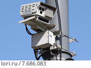 Купить «Автоматизированный комплекс фото и видеоконтроля скорости», фото № 7686083, снято 15 июля 2015 г. (c) Александр Тарасенков / Фотобанк Лори