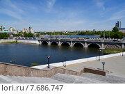 Купить «Челябинск, мост на реке Миасс», фото № 7686747, снято 27 мая 2015 г. (c) Окунев Александр Владимирович / Фотобанк Лори