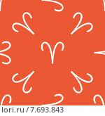 Купить «Orange Aries pattern», иллюстрация № 7693843 (c) Иван Рябоконь / Фотобанк Лори