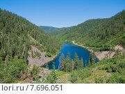 Купить «Высокогорное оползневое озеро Амут, Хабаровский край», фото № 7696051, снято 15 июля 2015 г. (c) Timur Kagirov / Фотобанк Лори