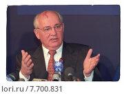 Михаил Горбачев - первый президент СССР. Редакционное фото, фотограф Борис Кавашкин / Фотобанк Лори