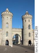 Купить «tower goal gate towers passage», фото № 7842299, снято 22 февраля 2019 г. (c) PantherMedia / Фотобанк Лори