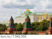 Купить «Вид на Московский Кремль в летний день, Россия», фото № 7942555, снято 8 июля 2015 г. (c) Astroid / Фотобанк Лори