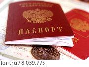 Купить «Паспорт гражданина Российской Федерации», фото № 8039775, снято 18 апреля 2014 г. (c) Сергеев Валерий / Фотобанк Лори