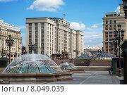 Здание Государственной Думы, вид с Манежной площади (2015 год). Редакционное фото, фотограф Малахов Алексей / Фотобанк Лори