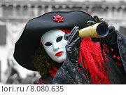 Купить «woman costume mask carnival pirate», фото № 8080635, снято 21 августа 2019 г. (c) PantherMedia / Фотобанк Лори