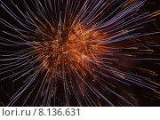 Купить «Фейерверк в ночном небе», фото № 8136631, снято 22 июля 2015 г. (c) Эдуард Цветков / Фотобанк Лори