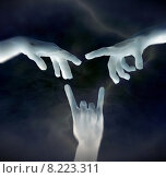 Купить «human hand world religion finger», фото № 8223311, снято 19 марта 2019 г. (c) PantherMedia / Фотобанк Лори
