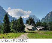 Купить «Dolomites Church, Val Visdende, Italy, July 2009», фото № 8339875, снято 18 октября 2018 г. (c) PantherMedia / Фотобанк Лори