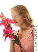 Купить «woman portrait attractive pretty plant», фото № 8385015, снято 5 июля 2020 г. (c) PantherMedia / Фотобанк Лори