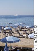 Купить «Beach at Cannes. Cote d Azur. France», фото № 8387443, снято 23 марта 2019 г. (c) PantherMedia / Фотобанк Лори